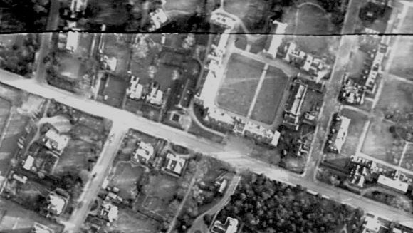 Selwyn College 1942 aerial photo