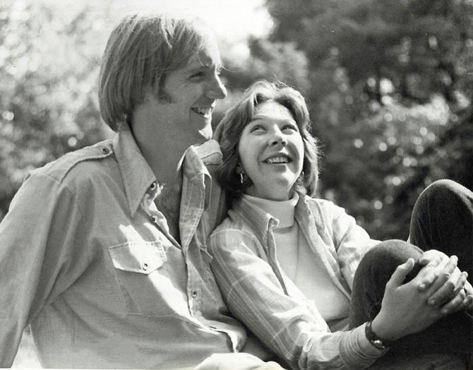 Jamie Netschert and his wife Donna in 1975